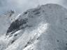 寒空の権現岳バットレス