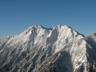 快晴の権現岳と旭岳