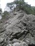 モミソ岩、通称懸垂岩全景
