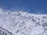 雪煙舞う白馬岳主稜