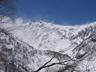 猿倉台地から望む白馬岳主稜全景