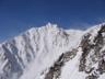 主稜から望む杓子岳