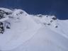 稜線の風の強さを物語る雪煙