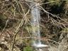 枝越しに見えるキュウハ沢の大滝