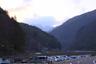 仙流荘付近からの鋸岳