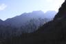 朝日に輝く鋸岳