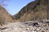 歌宿沢出合付近の戸台川下流方面