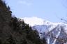 真っ白な仙丈ヶ岳が見えてきた
