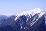 塩見岳も真っ白