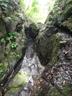 中流のゴルジュ抜け口にあるCS滝