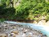 湯俣川との出合付近にかかる水俣川の吊橋