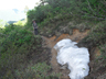 湯俣岳を過ぎる残雪がありました