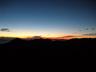 日の出前の餓鬼から燕岳の稜線