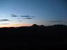 大天井岳のシルエット