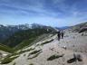 立山を正面に稜線を行く