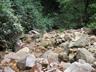 大滝の巻き道は写真の左に見える笹藪の切れ目から