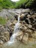 傾斜は緩くホールド豊富で階段状の滝ばかり