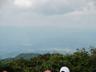モヤの向こうに会津の山々