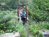 毛渡沢出合の吊橋