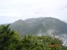 米子頭山山頂から巻機山を望む