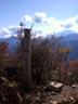 滝子山頂標と富士