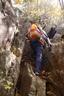 山頂手前の露岩