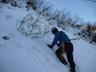 基本的な雪上歩行やピッケルワークの練習から