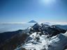 富士を背に稜線をすすむ