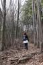 落葉の林をカサカサと