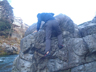 デラシネボルダーを登るM