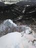 第一岩峰と第二岩峰の間のナイフリッジを振り返る