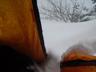 前室に吹き込んできた雪