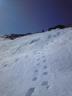 雪田を下山1