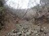 大滝を登った後のガレ場