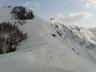 灰ノ又山の右奥に荒沢岳が見える