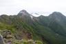 右から阿弥陀岳、中岳、赤岳