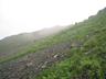 不安定な草付き砕石帯2