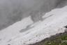 雪渓の崩落