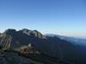 南岳から南岳山荘、北穂方面