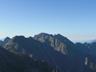 中岳より奥穂方面