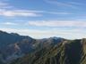 槍ヶ岳から西鎌尾根、裏銀座の稜線
