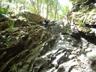 大滝をトップで登るM