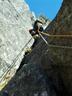 2ピッチ目登攀中のM