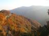 きれいに色づいた山々