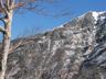 中央稜の岩峰