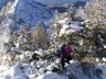 P1-P2のコルからの登りを見下ろす