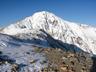 ボーコン沢ノ頭にて北岳が姿を現す