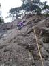 アイゼン登攀中に辺りを見回す余裕が出てきたR