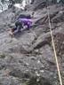 最後の一本を登るR