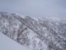 西稜上に発達した雪庇